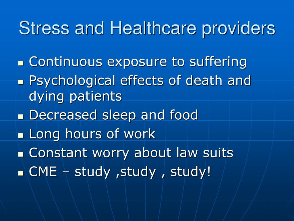 Stress and Healthcare providers