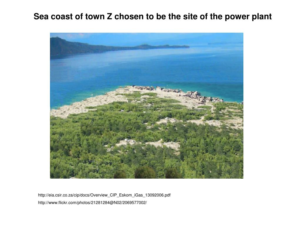 Sea coast of town Z chosen to be the site of the power plant