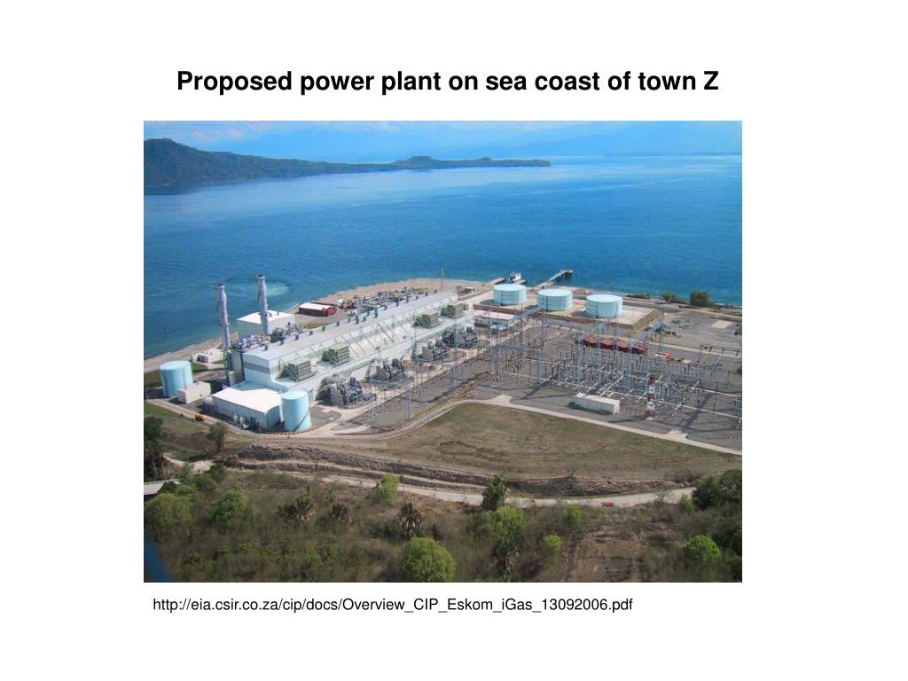 Proposed power plant on