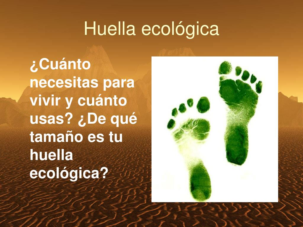 ¿Cuánto necesitas para vivir y cuánto usas? ¿De qué tamaño es tu huella ecológica?