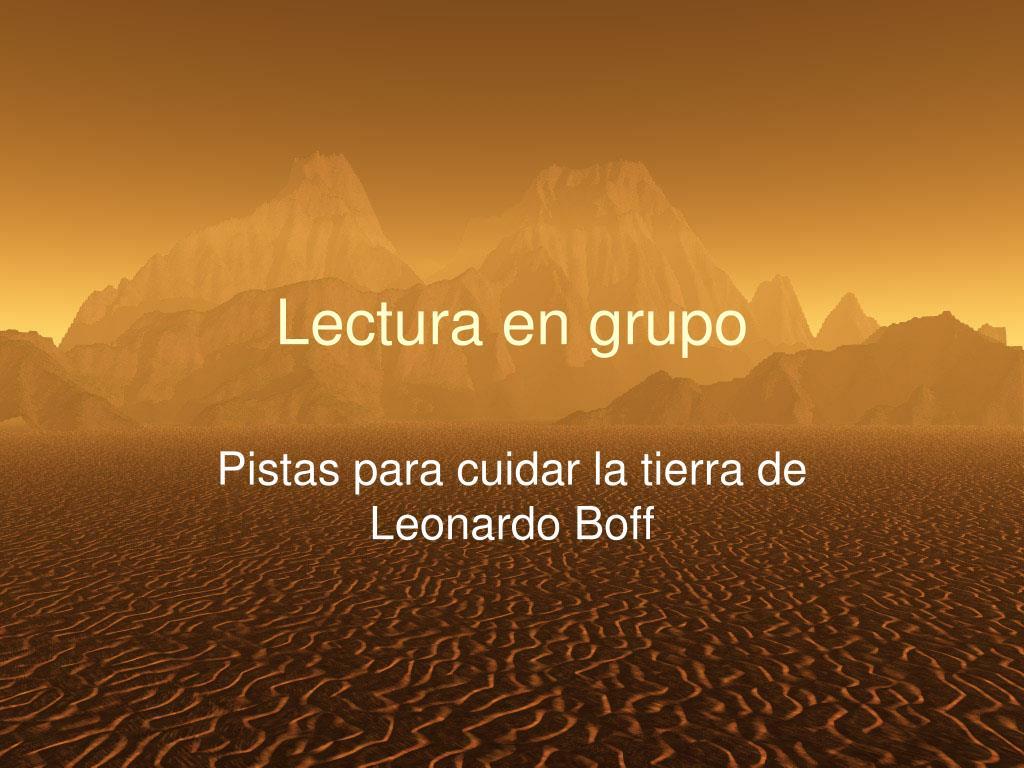 Lectura en grupo