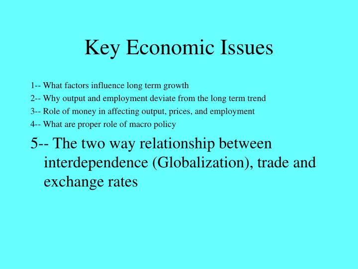 Key Economic Issues