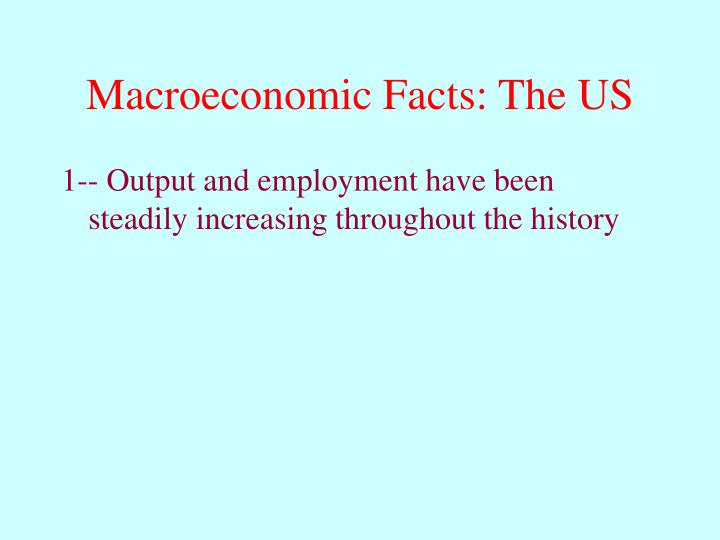 Macroeconomic Facts: The US
