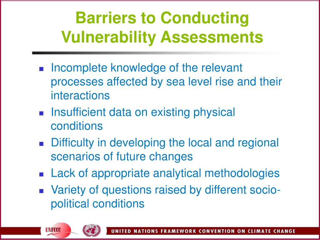 Barriers to Conducting Vulnerability Assessments