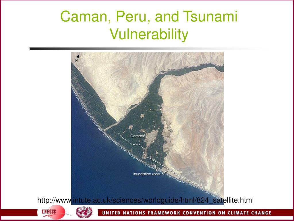 Caman, Peru, and Tsunami Vulnerability