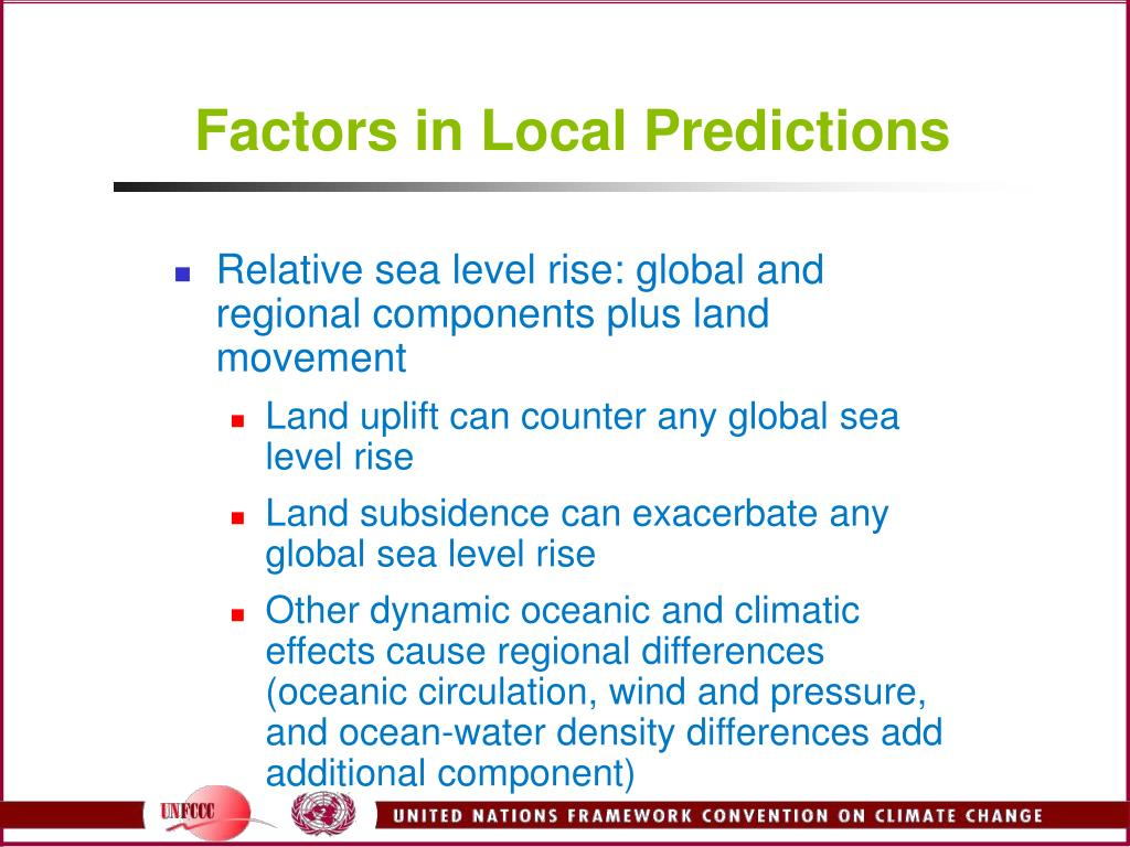 Factors in Local Predictions