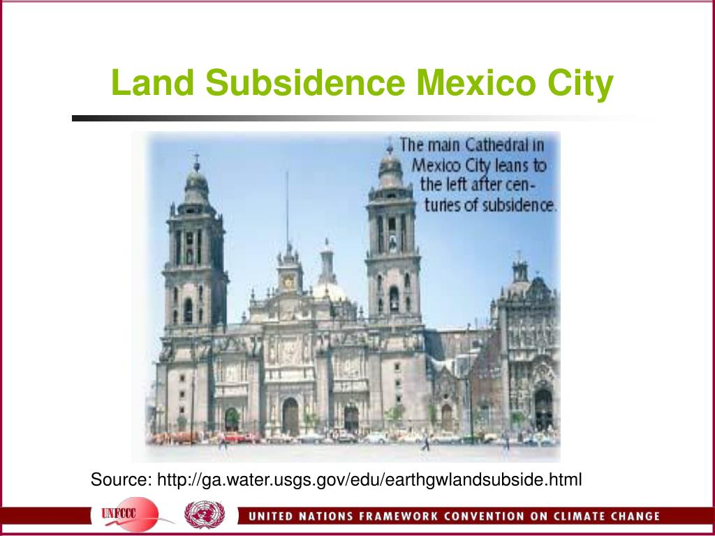 Land Subsidence Mexico City