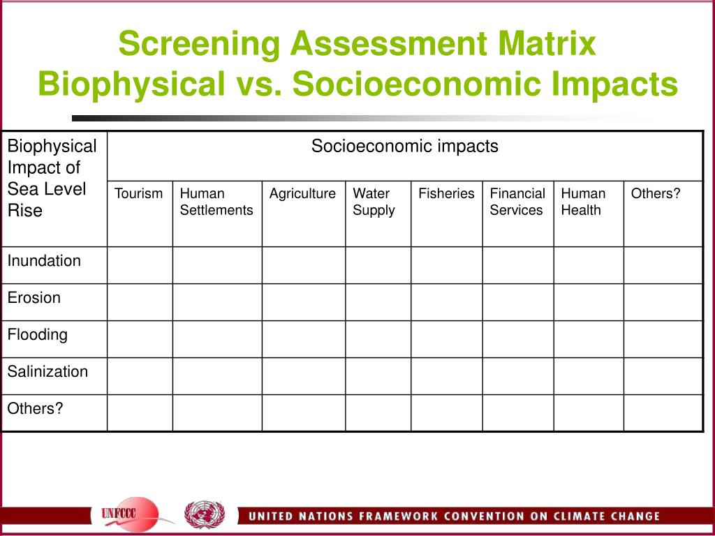 Screening Assessment Matrix