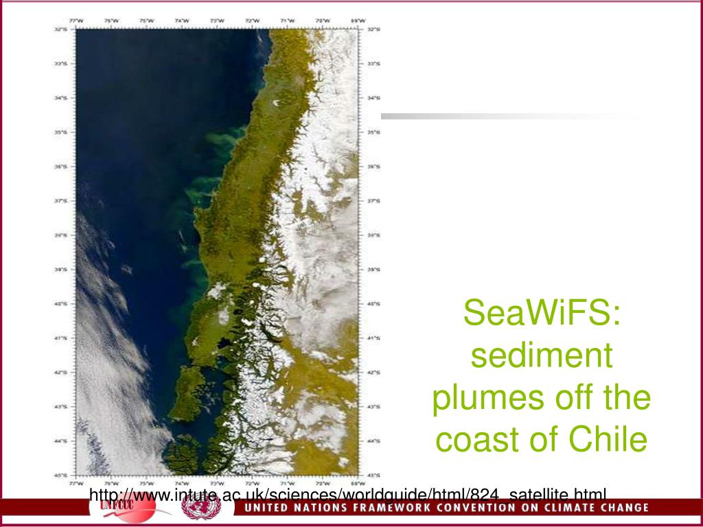 SeaWiFS: sediment plumes off the coast of Chile