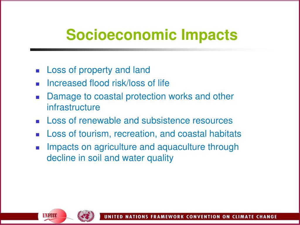 Socioeconomic Impacts