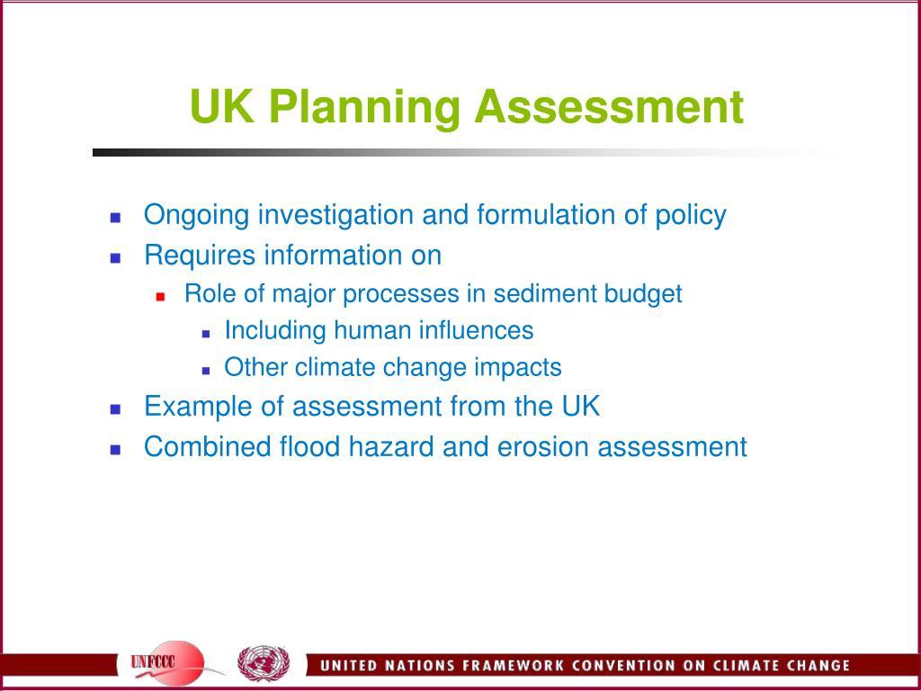UK Planning Assessment