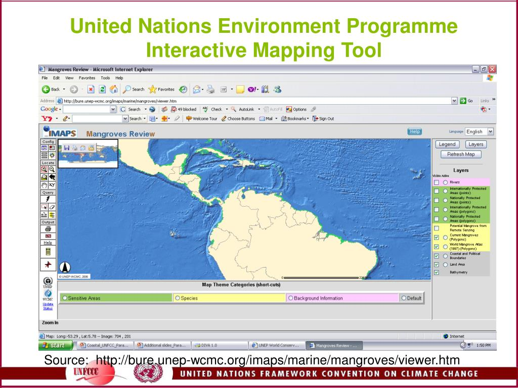 United Nations Environment Programme Interactive Mapping Tool
