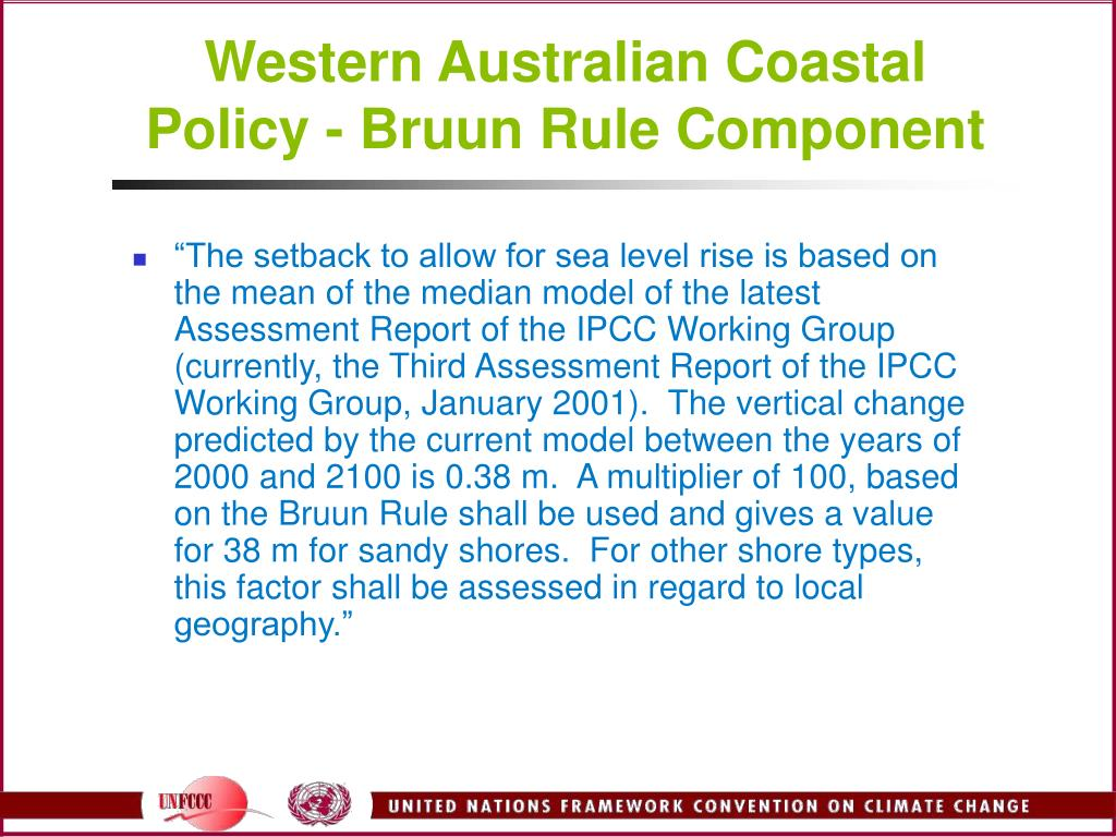 Western Australian Coastal Policy - Bruun Rule Component