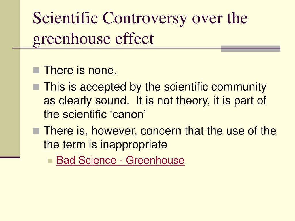 Scientific Controversy over the greenhouse effect