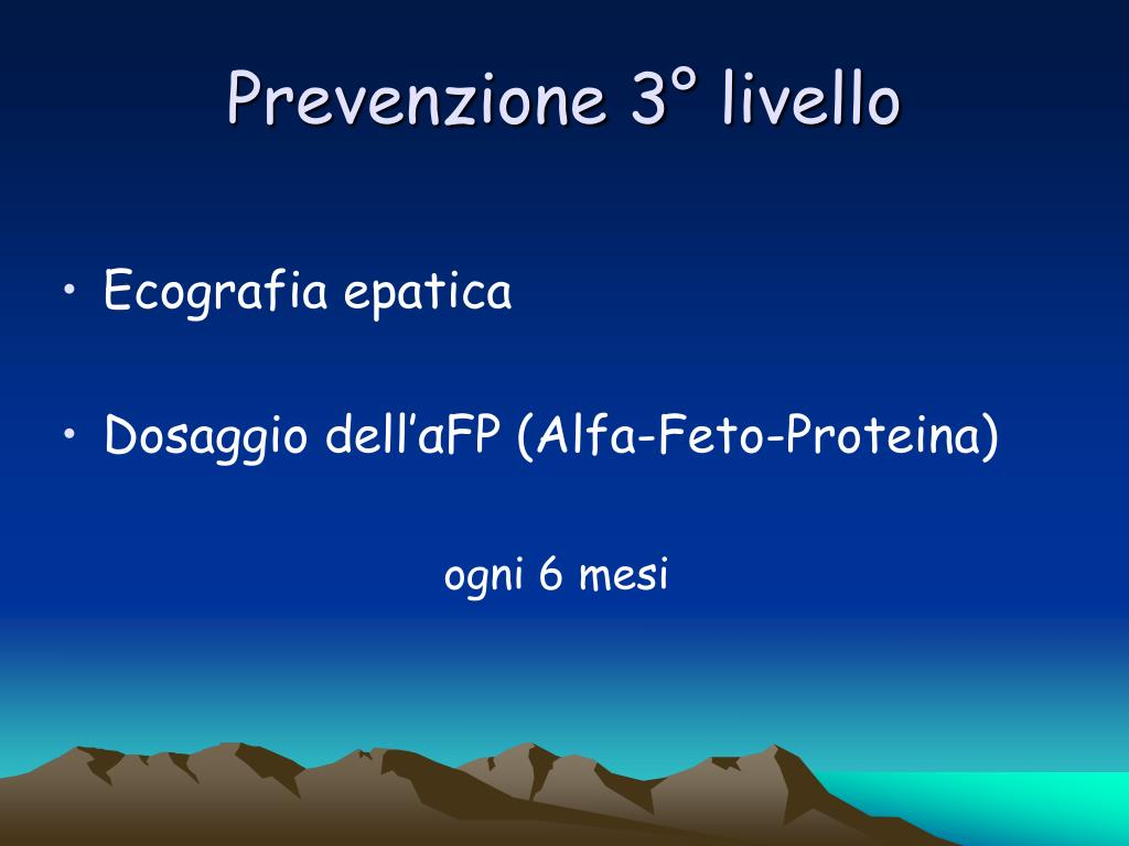 Prevenzione 3° livello
