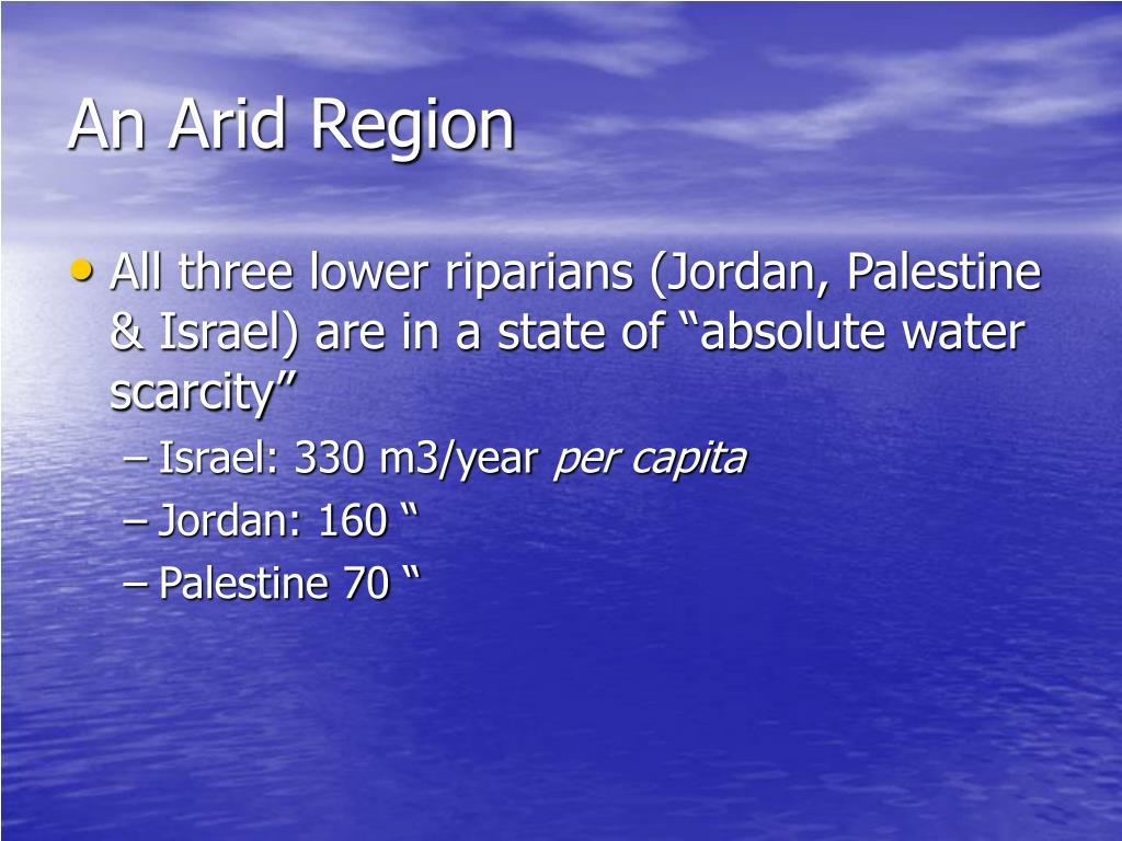 An Arid Region