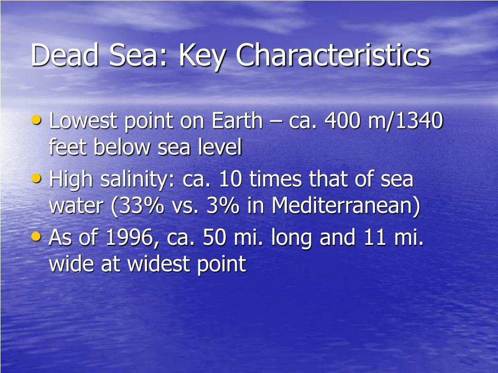 Dead Sea: Key Characteristics