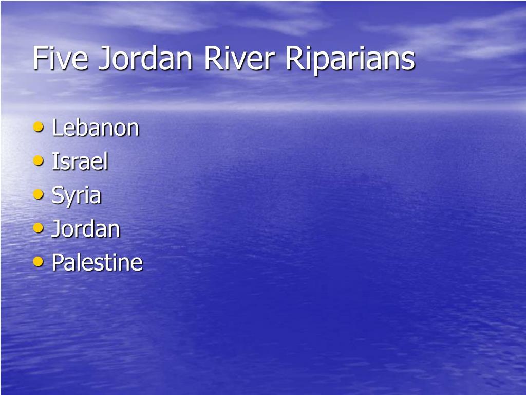 Five Jordan River Riparians