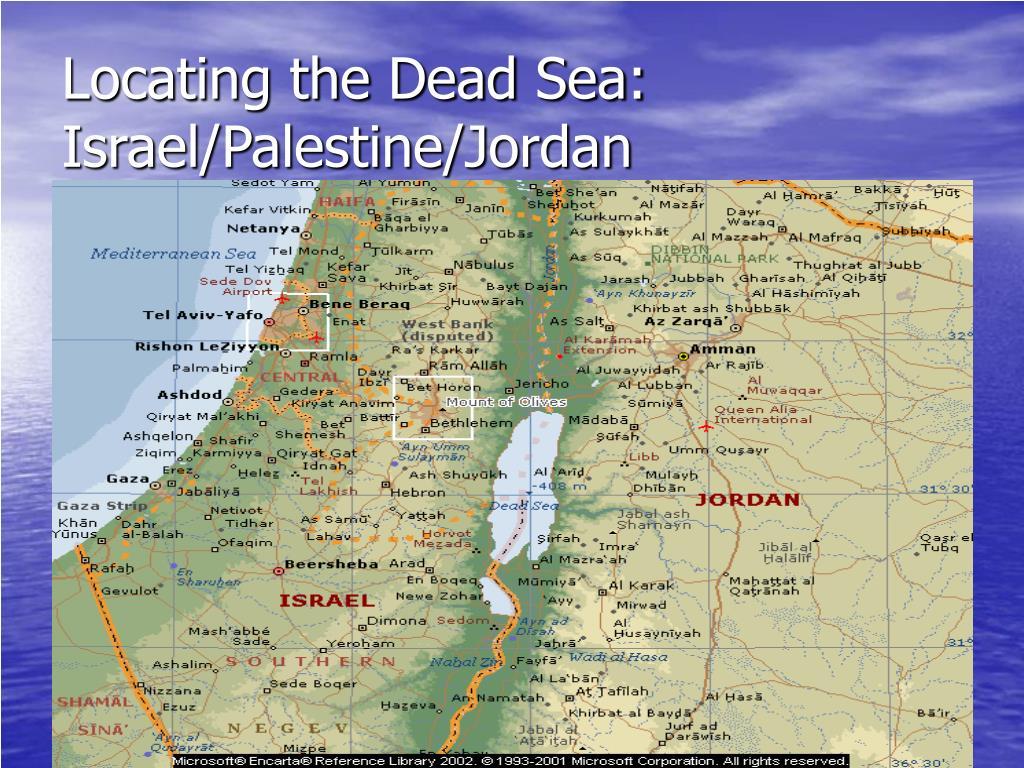 Locating the Dead Sea: Israel/Palestine/Jordan