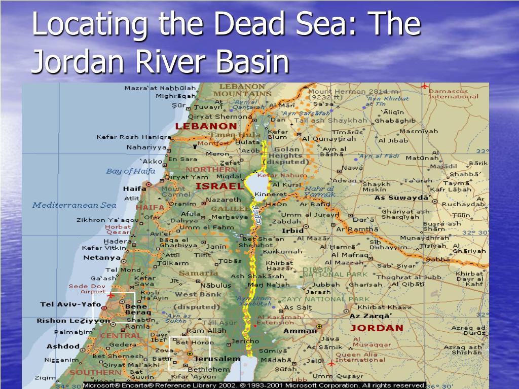 Locating the Dead Sea: The Jordan River Basin