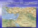 locating the dead sea the middle east