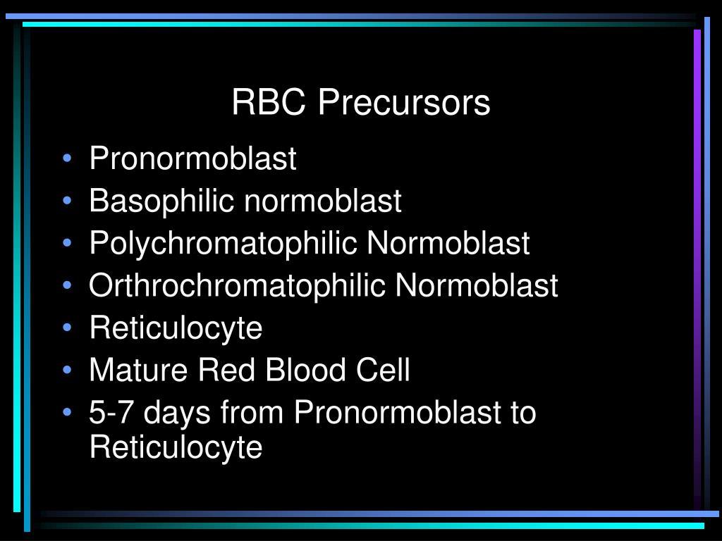 RBC Precursors