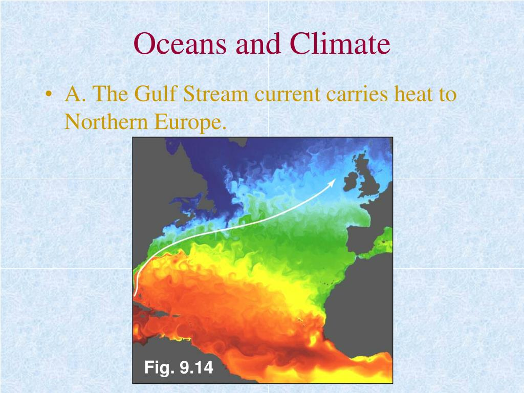Oceans and Climate