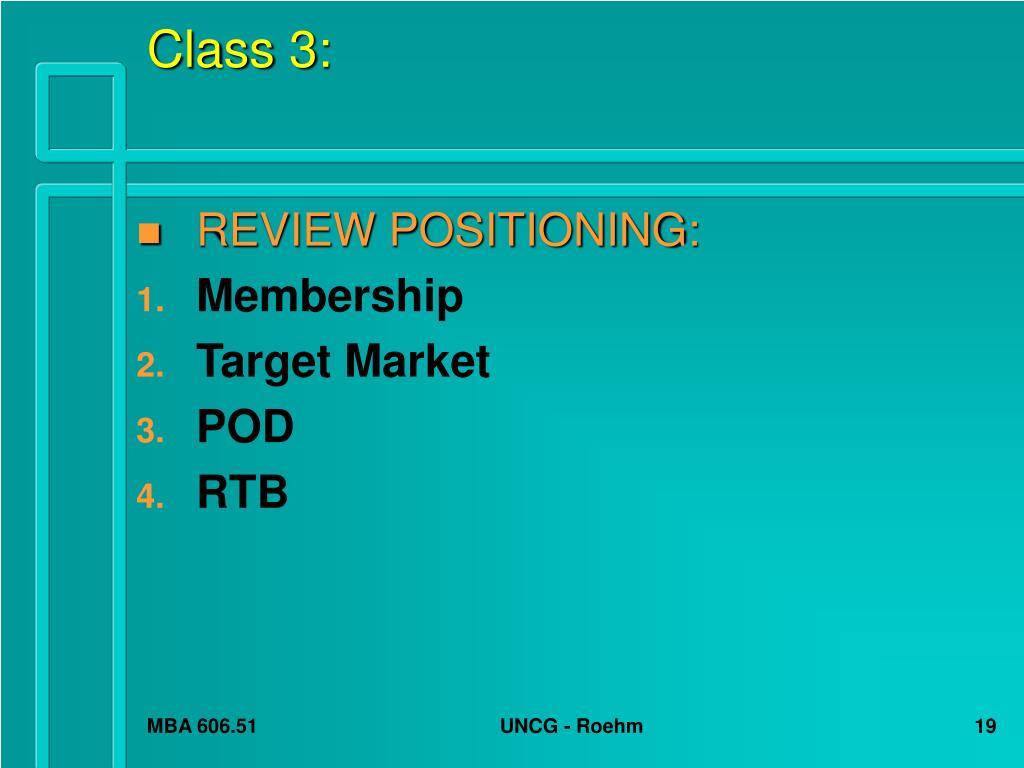Class 3: