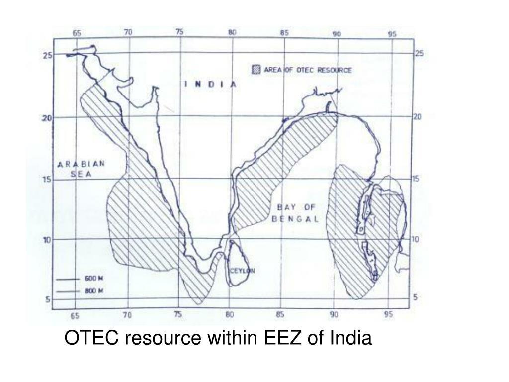 OTEC resource within EEZ of India