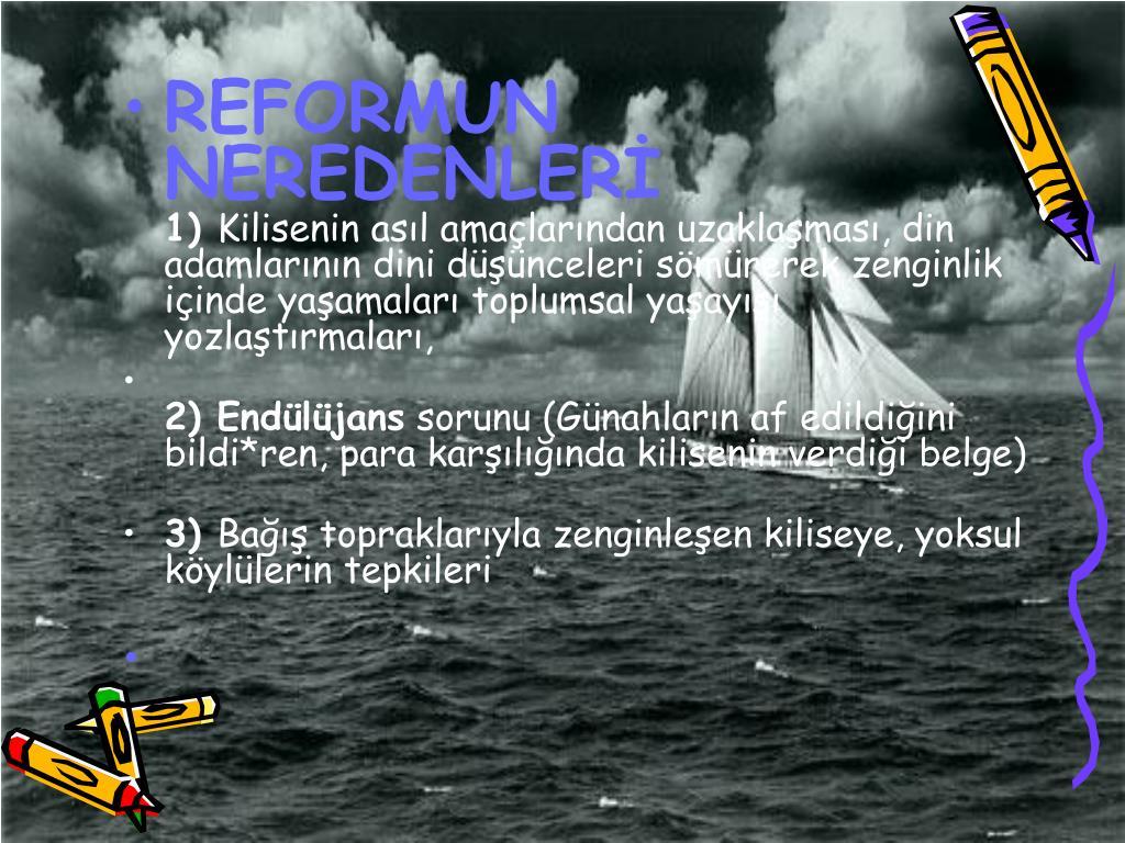 REFORMUN NEREDENLER