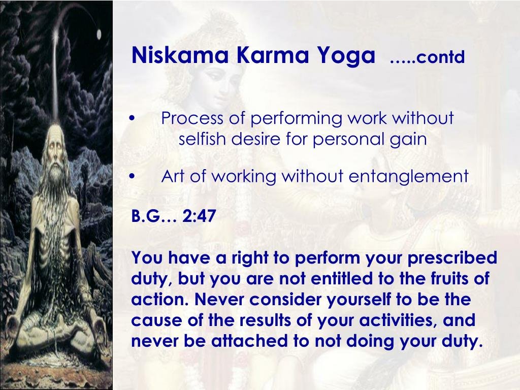 Niskama Karma Yoga