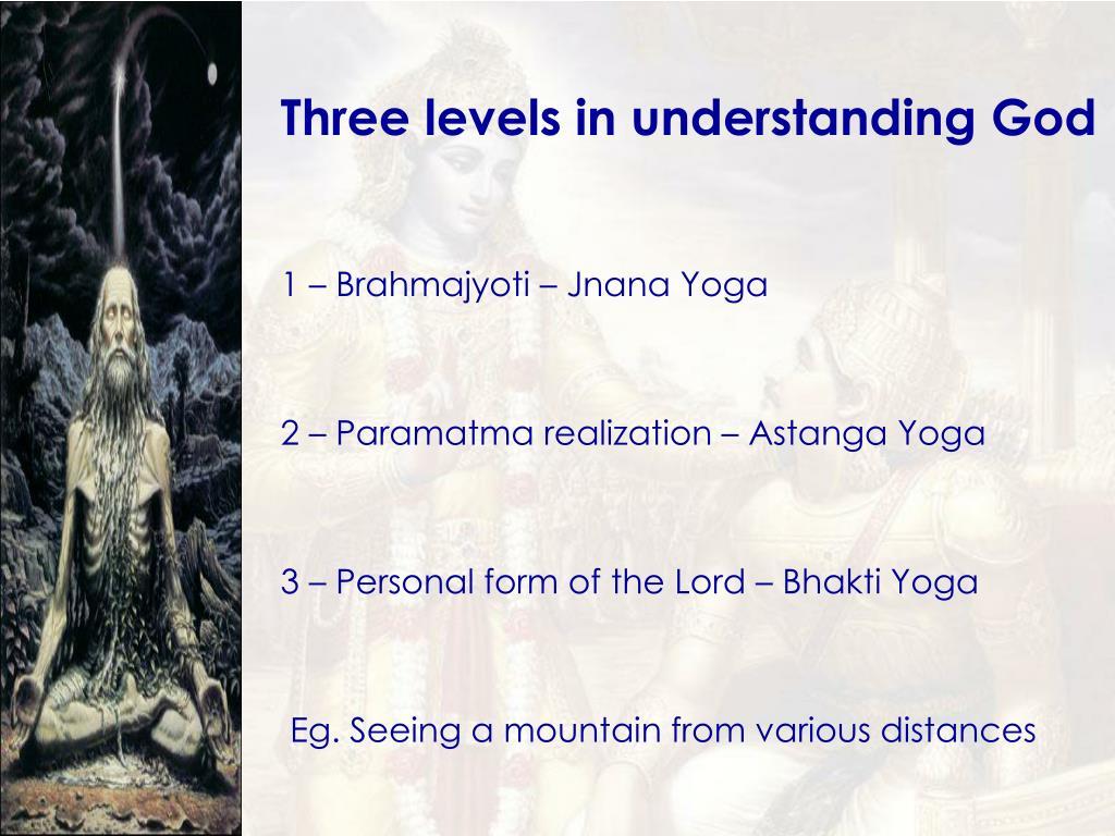 Three levels in understanding God