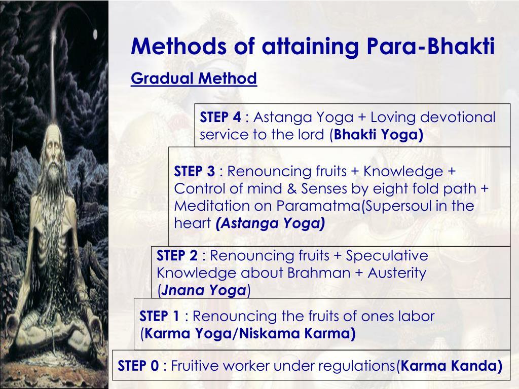 Methods of attaining Para-Bhakti