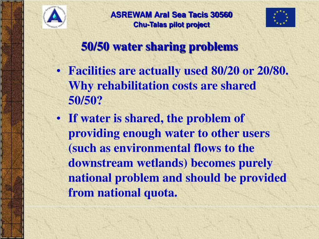 50/50 water sharing problems