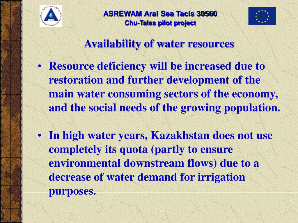 Availability of water resources