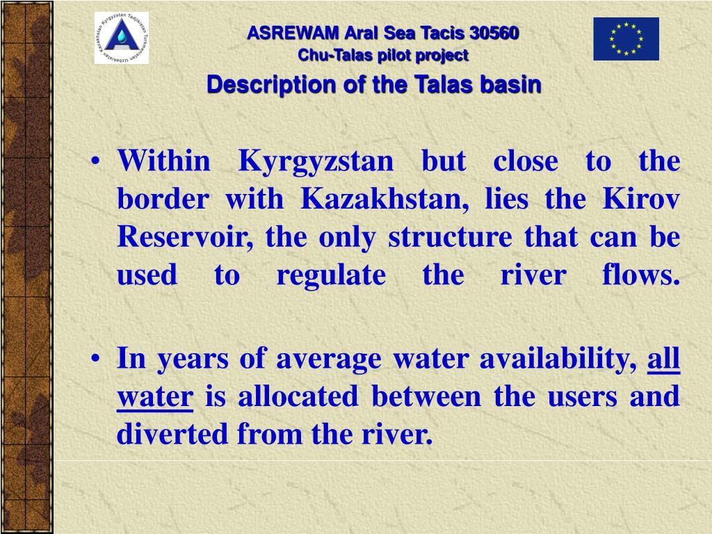 Description of the Talas basin