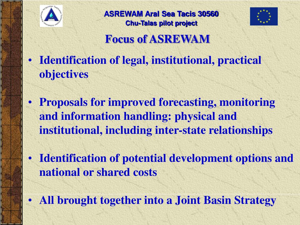Focus of ASREWAM