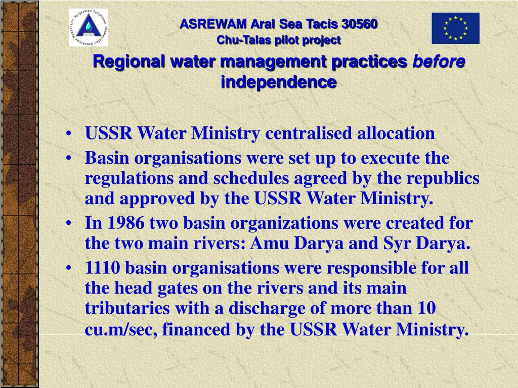 Regional water management practices