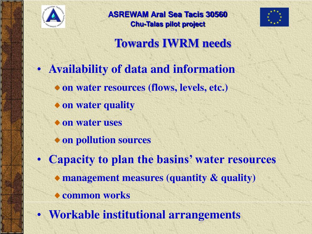 Towards IWRM needs
