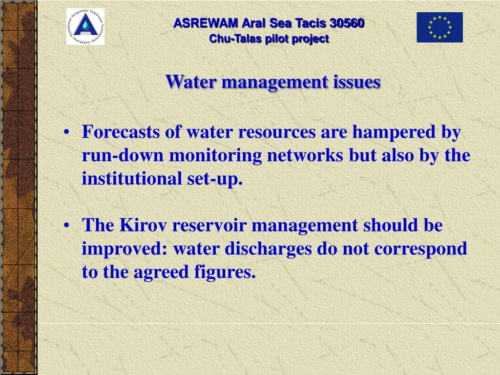 Water management issues