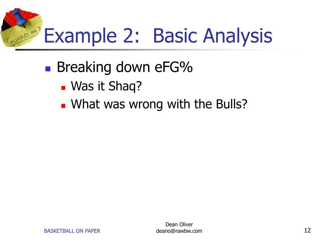 Example 2:  Basic Analysis