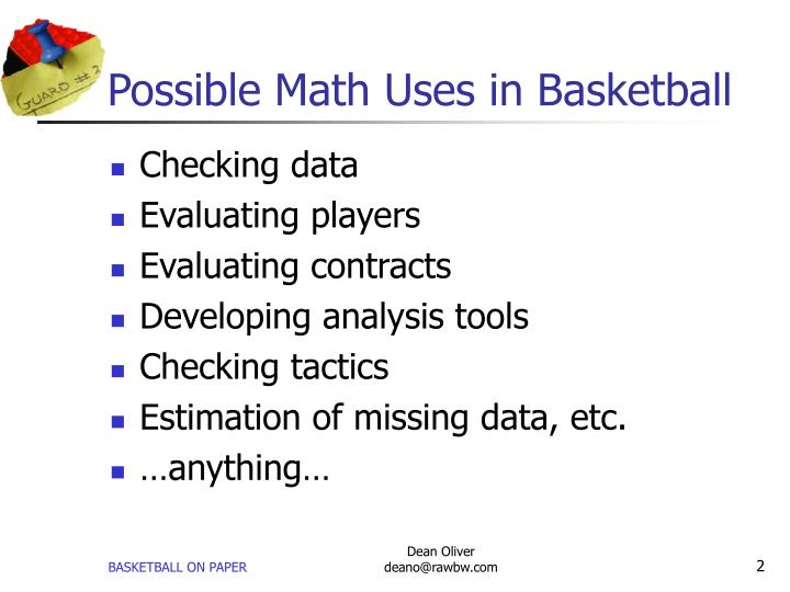 Possible math uses in basketball