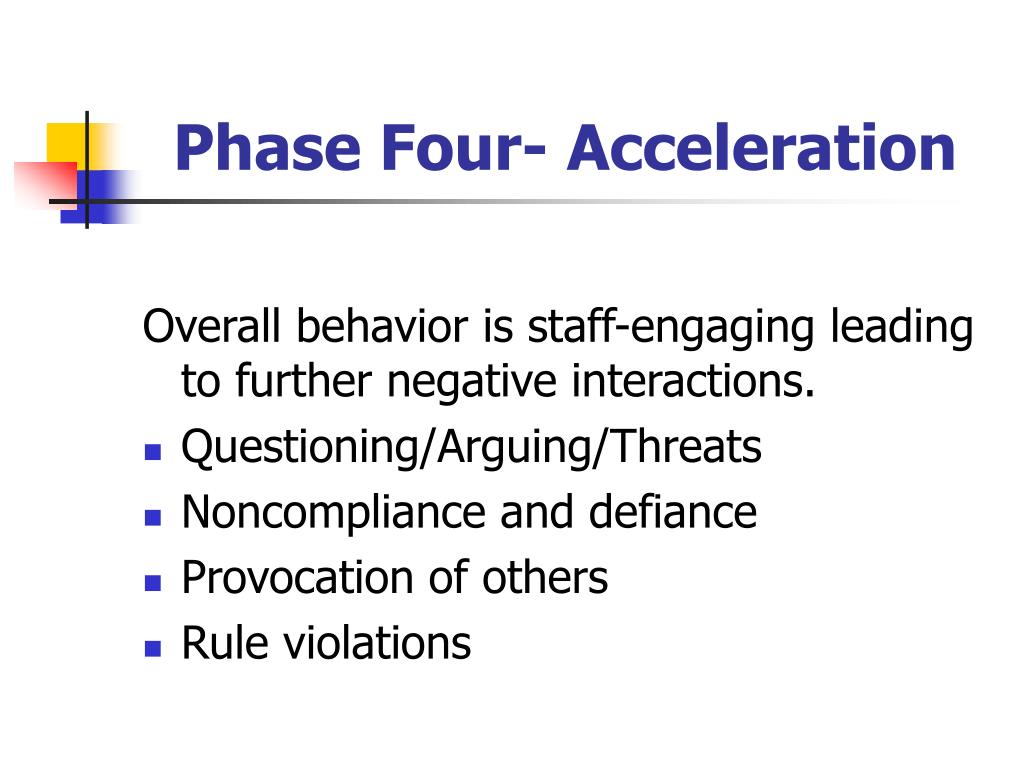 Phase Four- Acceleration