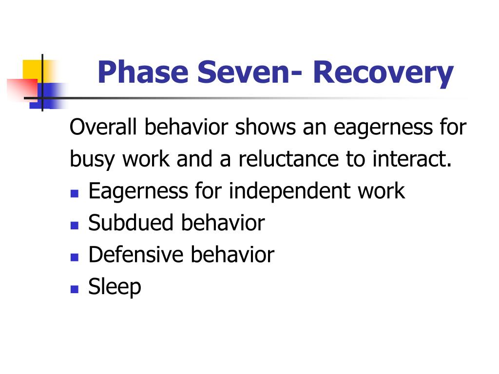Phase Seven- Recovery
