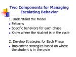 two components for managing escalating behavior