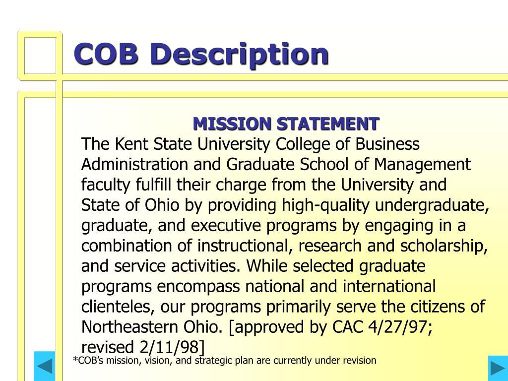 COB Description