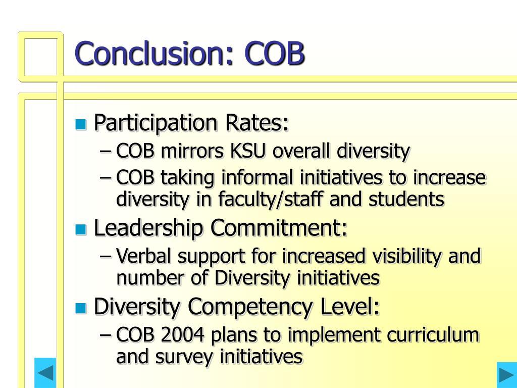 Conclusion: COB