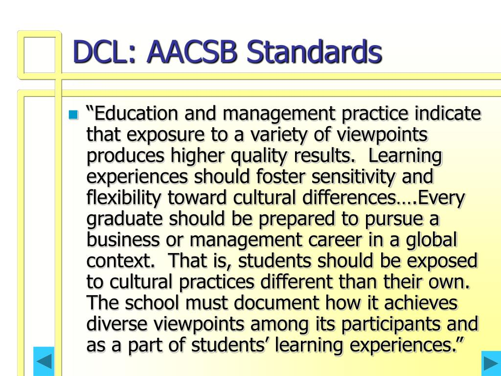 DCL: AACSB Standards