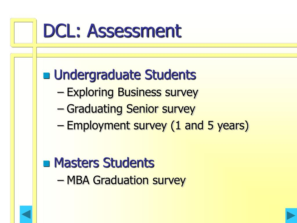 DCL: Assessment