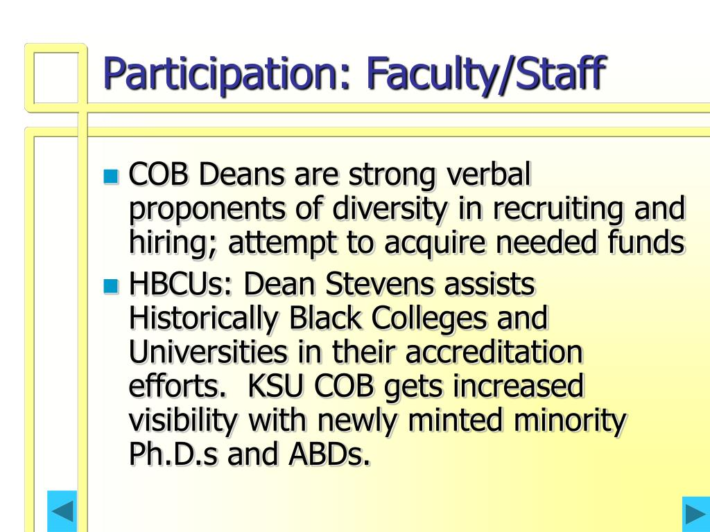 Participation: Faculty/Staff